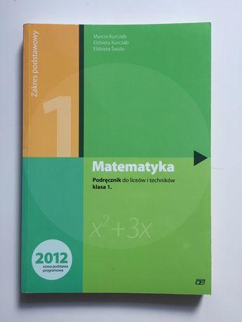 Matematyka 1, podręcznik zakres podstawowy