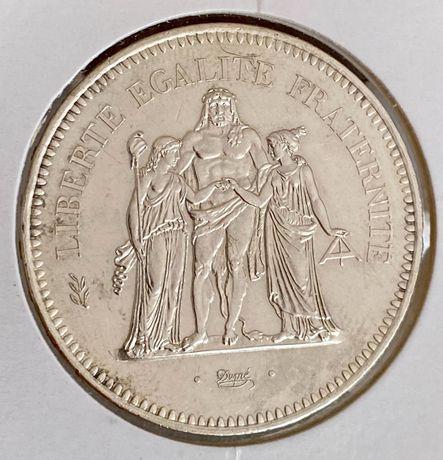 2 Moedas 50 Francos prata