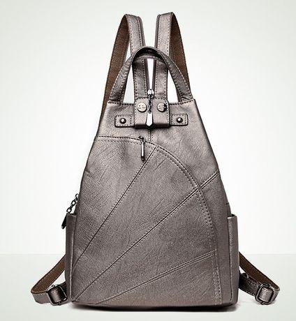 Стильный рюкзак Ранец для модницы Серебро