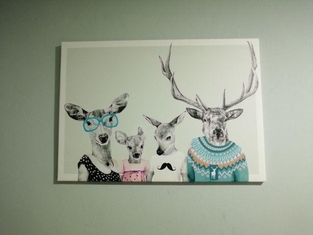 Obraz rodzina jeleni