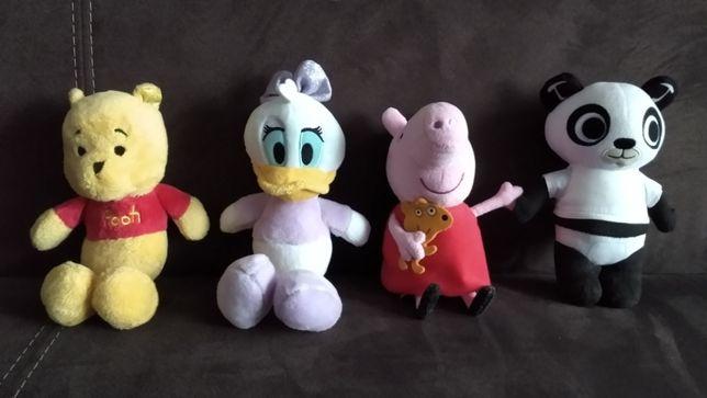 Maskotki Kubuś Puchatek Daisy Peppa Pando dzieci prezent przytulanki