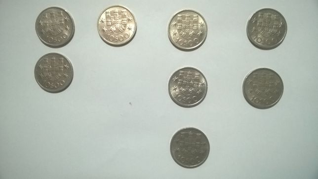 Moedas 10$00 Republica Portuguesa