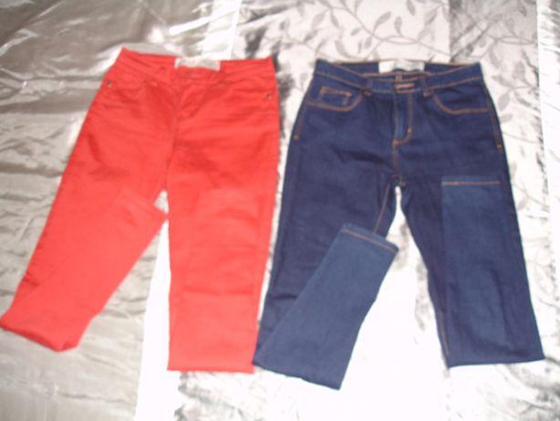 3 Calças Azul e Vermelho e Preto Nº 34