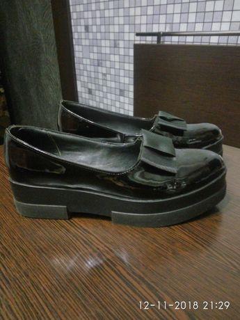 Туфли кожа натуральная,лак