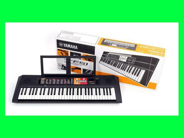 YAMAHA PSR-F51 Keyboard do nauki + NAKLEJKI Edukacyjne