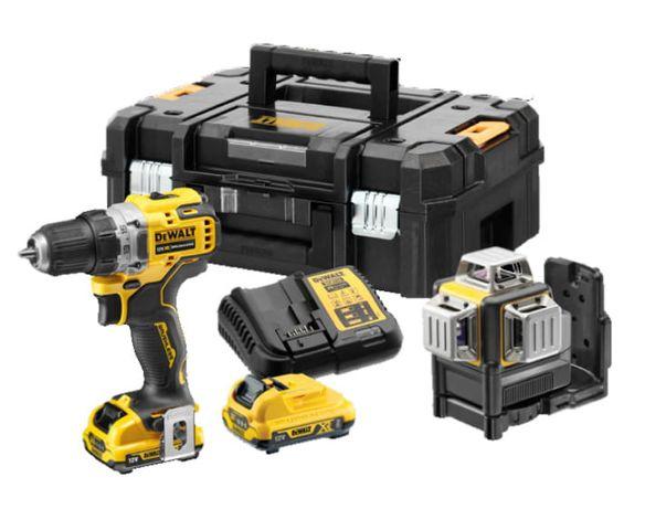 DeWALT DCK212D2T Laser DCE089G + Wkrętarka DCD701
