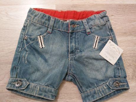 Szorty spodnie jeansowe dżinsowe 92 nowe