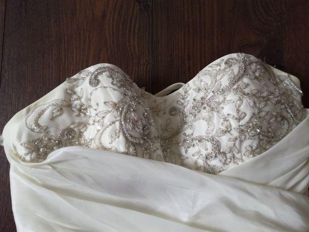 Suknia ślubna r. 38 z trenem