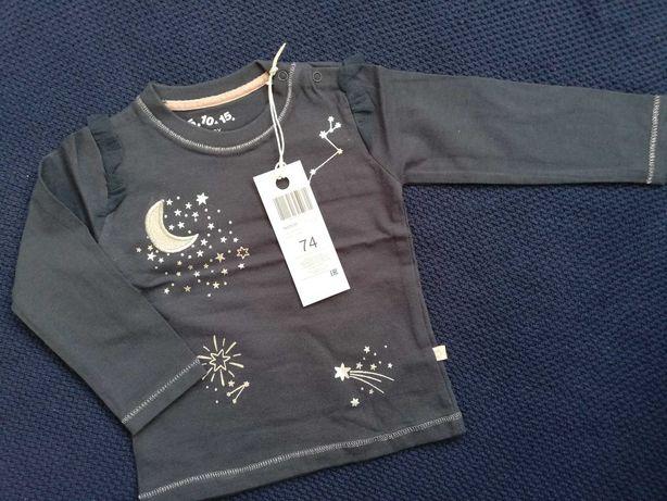 Nowa Bluzeczka dla dziewczynki roz 74 firmy 5.10.15