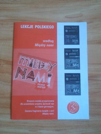 Broszura Lekcje polskiego według Między nami