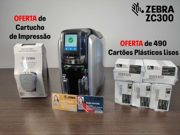 VÁRIAS OFERTAS | Impressora de Cartões (Dupla Face) Zebra ZC300