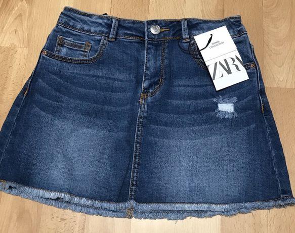 Spodnica Jeans ZARA ** 134cm 9 lat ** NOWA