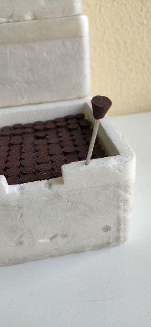 Brocas acabamento abrasivas S4 caixa 100 esqueleticas - 1 caixa