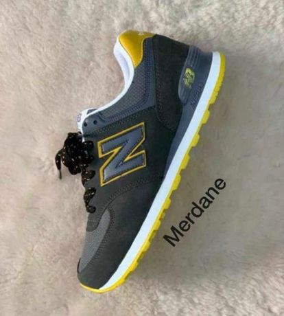 New Balance 574. Rozmiar 44. Kolor szaro- zółty. Najtaniej
