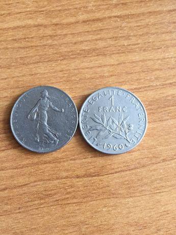 1 франк 1960 и 1974 г.г.