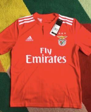 Camisolas Benfica adidas slb formacao.tam 12 anos(1,52). ver descrição