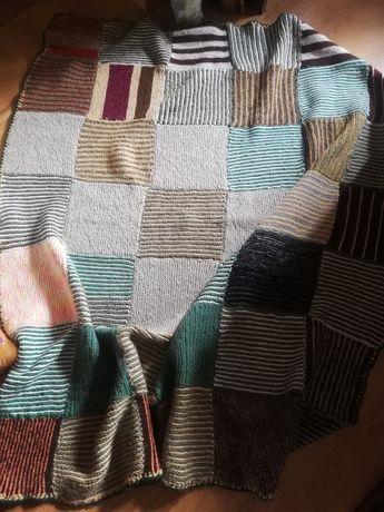 Koc ręcznie robiony patchwork wełna