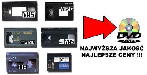 Przegrywanie kaset VHS na DVD - Gniezno