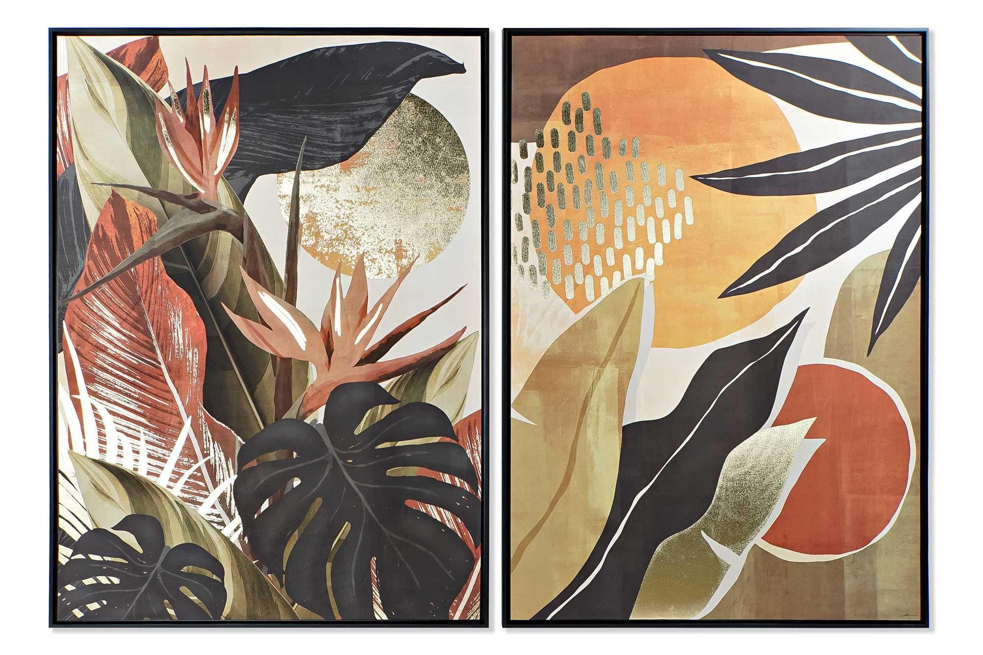 Quadro abstracto Tropical 2 modelos - 103,5X4,5X144cm By Arcoazul