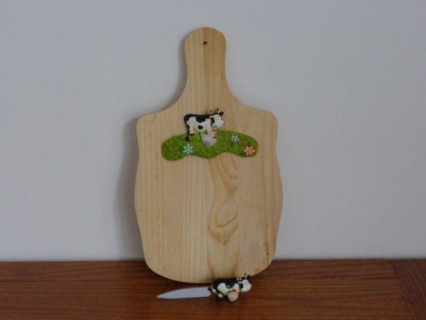 Tábua de cozinha em madeira