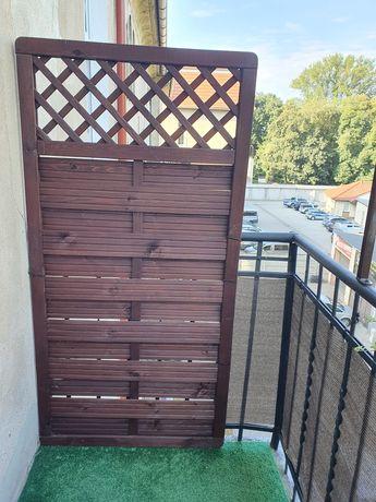 Płotek drewniany na balkon 180x90cm