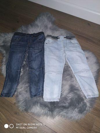 Spodnie jeansowe 98 cena za całość