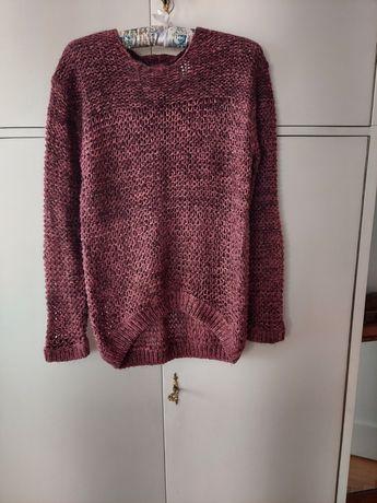 Fioletowy lekki sweter