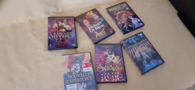 6 dvd~s cirque du soleil