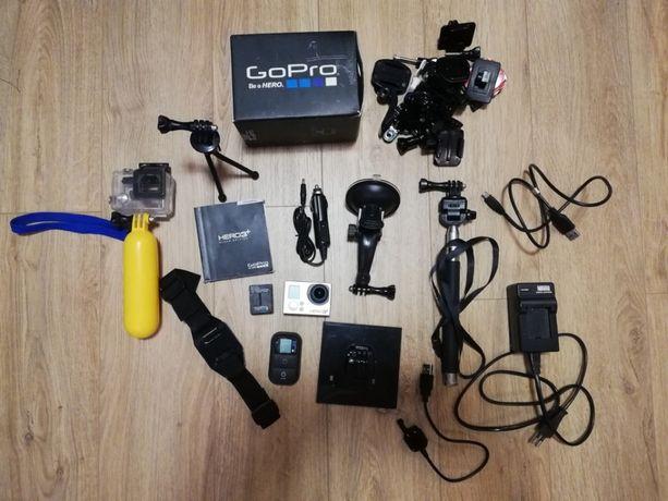 Kamera sportowa GoPro Hero 3 + Black Edition, sporo dodatków!!