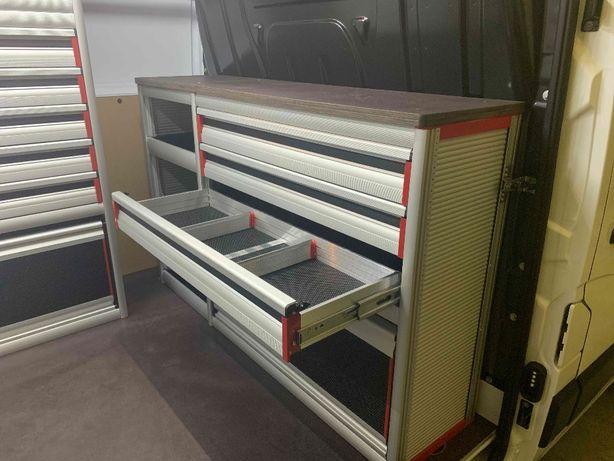 Zabudowa warsztatowa serwisowa GEMA na MB Sprinter 100% aluminium