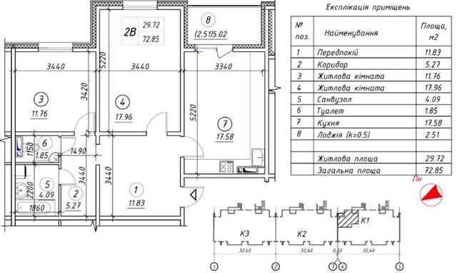 Продам 2 комнатную квартиру с ремонтом в ЖК Ревуцкий, без комиссии