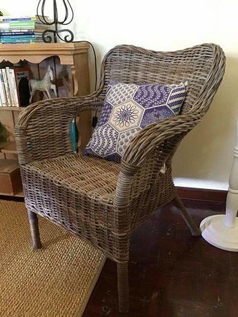 cadeiras, poltrona, sofa, rattan, rustico