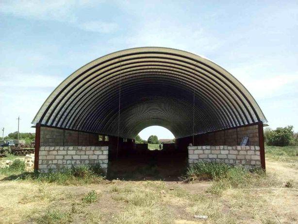 Ангари аркові безкаркасні, склади, сховища, аркові перекриття.