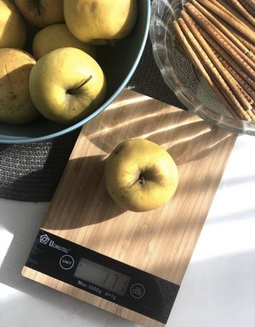 Весы кухонные Domotec MS-A дерево до 5 кг,хит продаж!Стильная кухонная