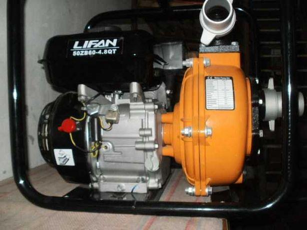 Мотопомпа  LIFAN  50ZB60-4.8QT-BF.         Газ + Бензин