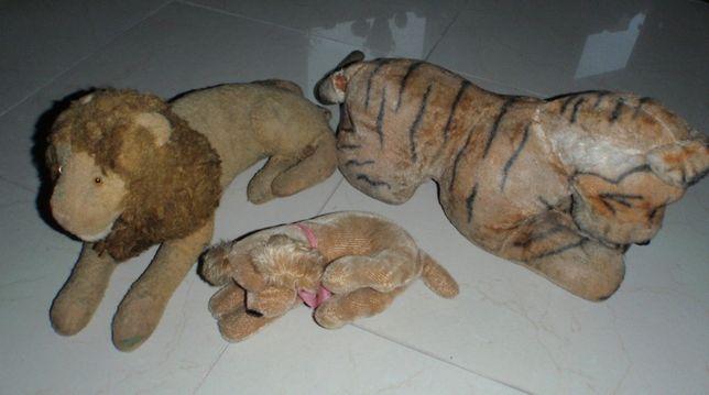 Stare słomiane zabawki Lew Tygrys Pies .
