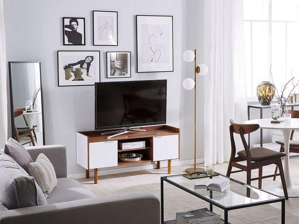 Móvel de TV branco com castanho escuro MADERA - Beliani