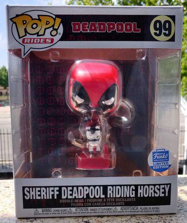 Funko Pop Sheriff Deadpool Riding Horsey