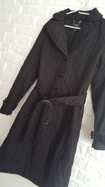 Płaszcz czarny pikowany 36 H&M nowy