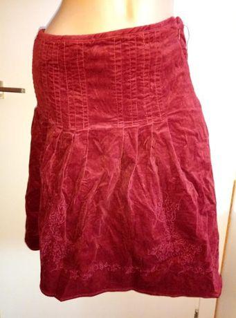 Бордовая школьная юбка до колен, повседневная юбка миди reserved