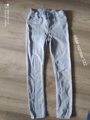 spodnie rurki dla chłopca rozmiar 122