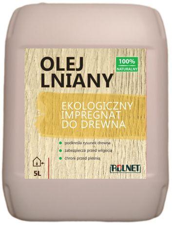 Olej lniany impregnat do drewna 5 l -100% naturalny