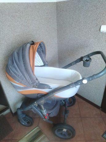 Szary wózek 2w1 firmy Barletta