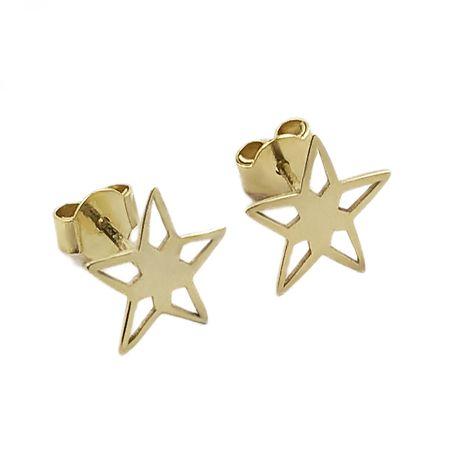 Złote Kolczyki Gwiazdki 585 - Goldrun - Okazja