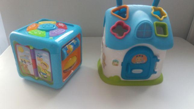 2 zabawki dla malucha od 6-36m (sorter plus kostka) Stan bardzo dobry!