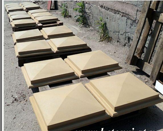 Крышки на забор, парапеты бетонные