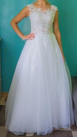 suknia ślubna princeska r. 36 okazja!