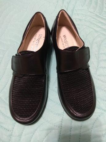 Nowe buty dla wrażliwych, puchnących nóg. Damskie, skórzane