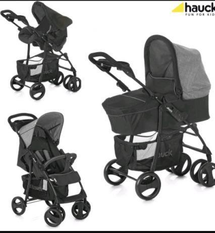 Nowy wózek 2w 1 HAUCK,szary wózek,spacerówki, fotelik