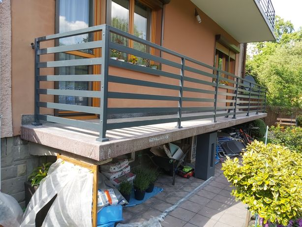 Balustrada balkonowa panelowa 60x20 ocynk malowany proszkowo